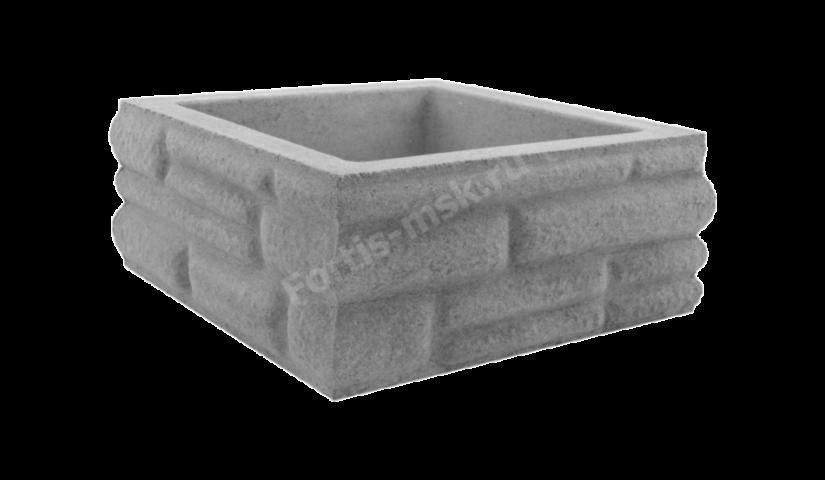 Блок столба Бутовый камень большой 400х400х165мм