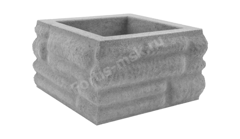 Блок столба Бутовый камень малый 300х300х165мм