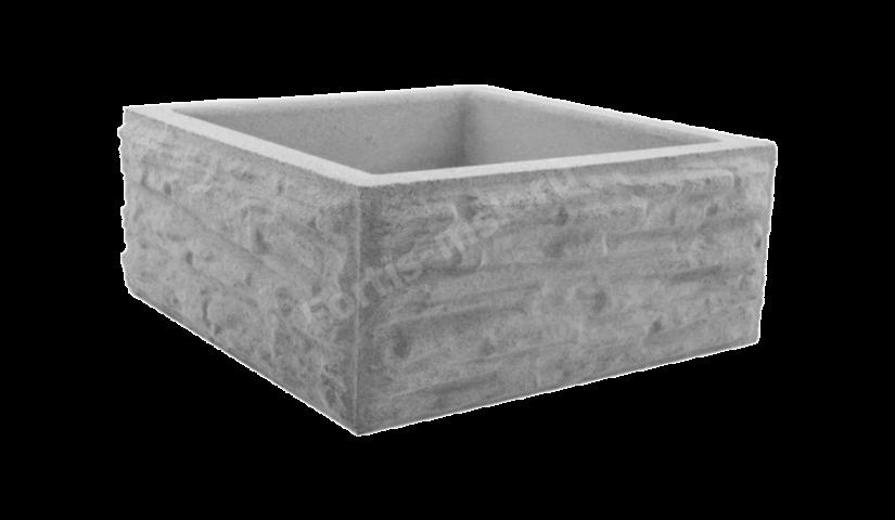 Блок столба Сланец тонкорельефный большой 400x400x165мм