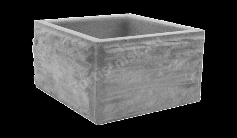 Блок столба Сланец тонкорельефный малый 310x310x165мм