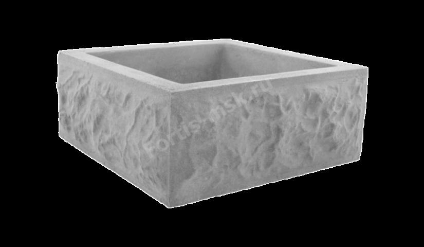 Блок столба Карельский камень большой 400х400х165мм