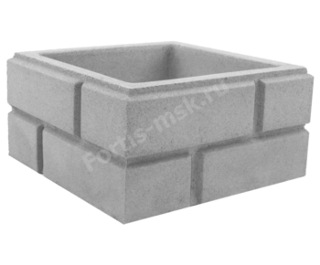 Блок столба заборного Кирпич классический