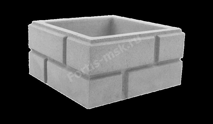 Блок столба Кирпич классический малый 330х330х165мм