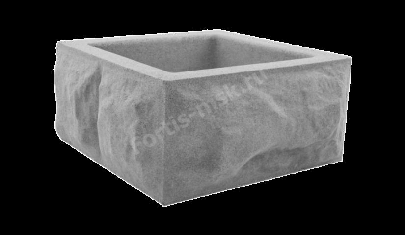 Блок столба Скол камня большой 400x400x165мм