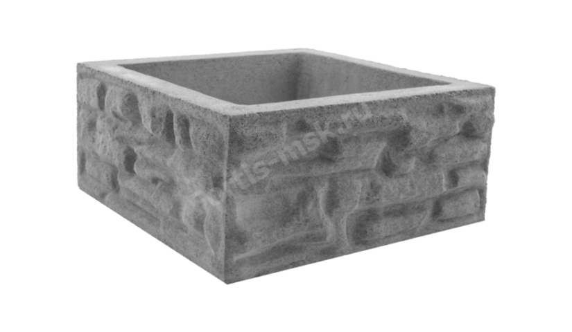 Блок столба Сланец Крымский большой 385х385х170мм