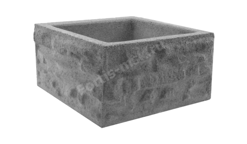 Блок столба Сланец Крымский малый 345х345х170мм