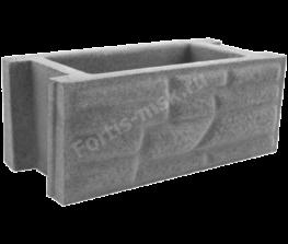 Блок забора Бутовый камень 400х200х165мм