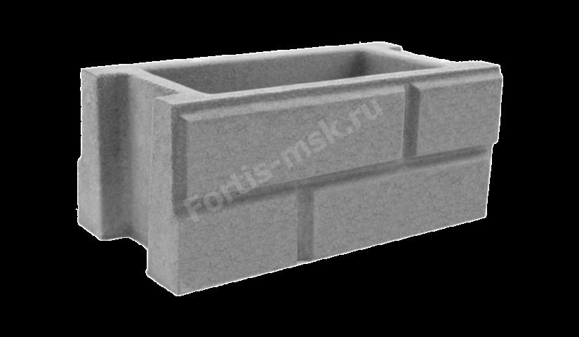Блок забора Кирпич классический 400х200х165мм