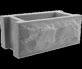 Блок забора Скол камня 400х200х165мм