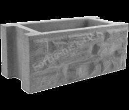 Блок забора Сланец Крымский 400х200×170мм
