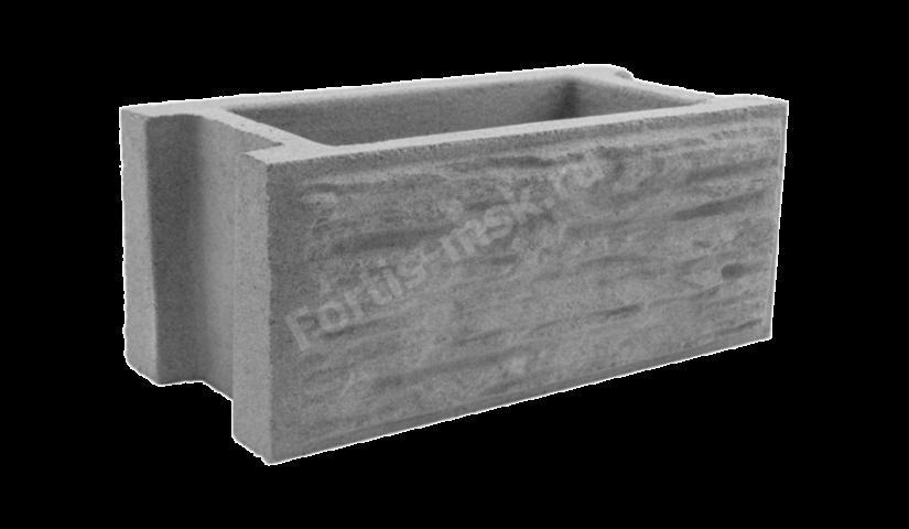Блок забора Сланец тонкорельефный 400х200х165мм