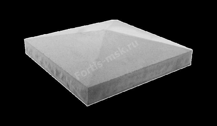 Крышка столба четырехскатная 450х450х120мм Карельский Камень большая