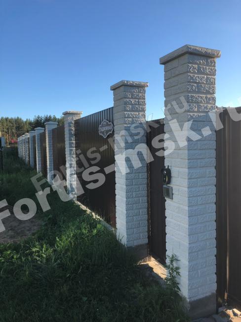 Блок столба Кирпич Старый Замок