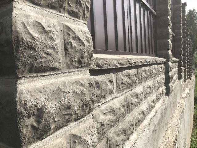 Блоки для забора рваный камень