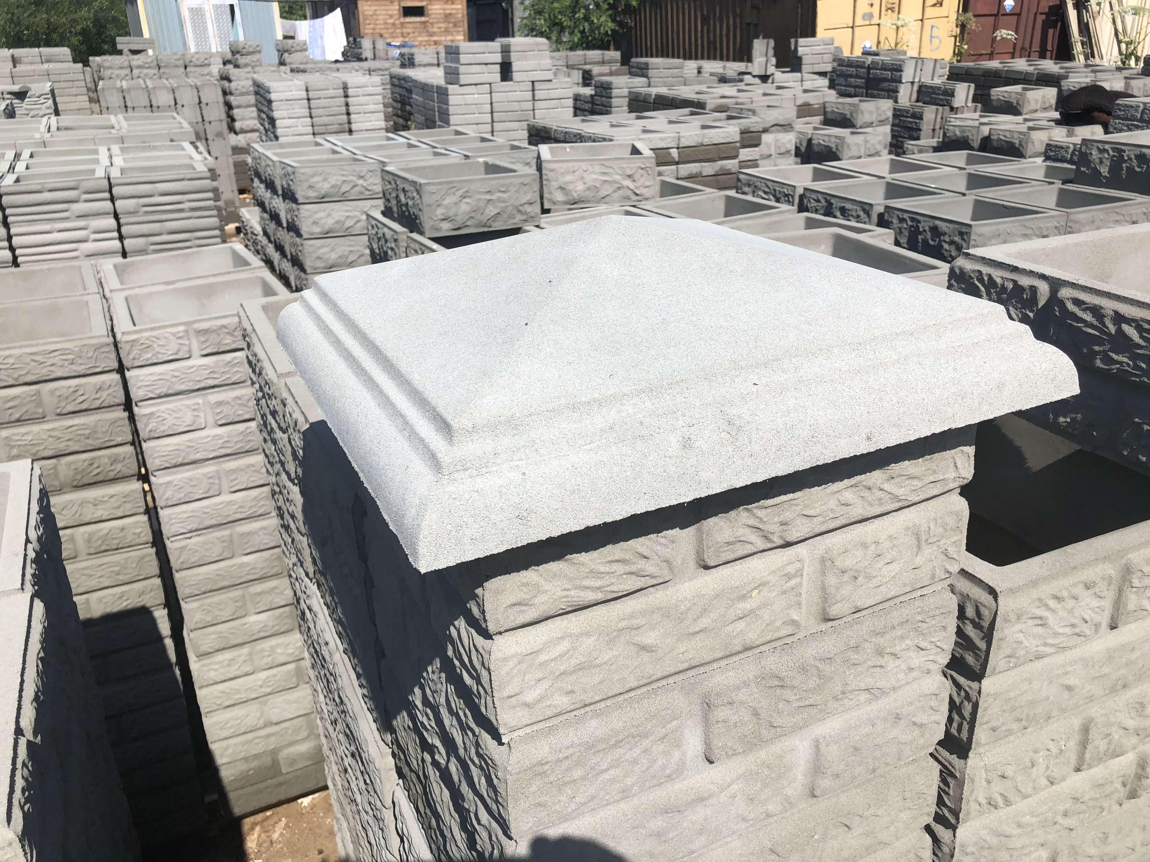 Недорого купить бетонные колпаки в Москве