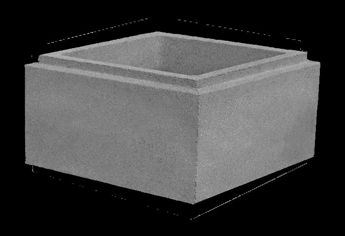 Блок столба «Евро» Рустовый большой 400х400х200мм