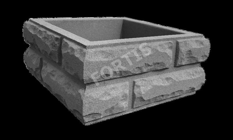 Блок столба Кирпич Колотый большой 380х380х165мм