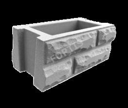 Блок забора Кирпич Колотый 400х200х165мм